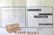 1929 Waterman's 2-Page Pen Ad ~ Patrician