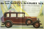 1929 Willys Knight Six Ad ~ Great Art ~ Two Page Spread
