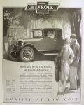 1926 Chevy Coupe Ad ~ Youthful America