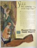 1926 Daniel Green Slippers Ad ~ Sh-h-h He's Coming