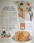 1925 Swans Down Cake Flour Ad ~ Maple Nut Cake Recipe