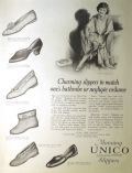 1924 Manning Unico Slippers Ad ~ Matches Your Negligee