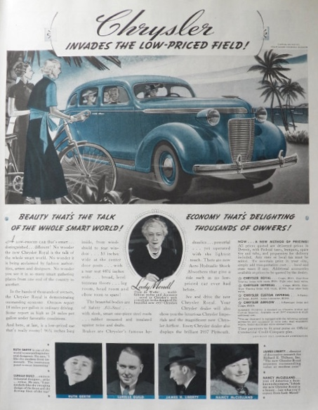 1937 Chrysler Royal Ad ~ The Talk of the Smart World