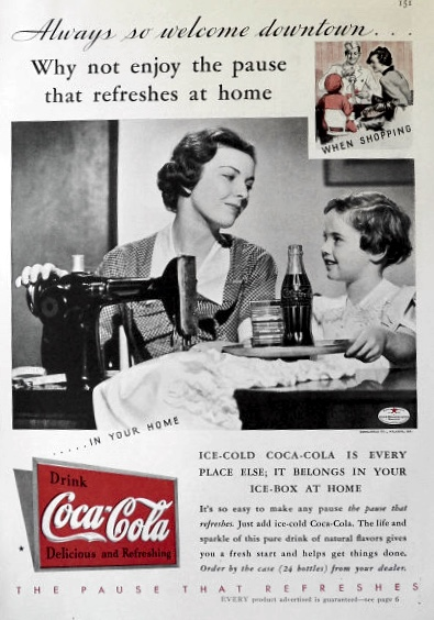 1935 Coca-Cola Coke Ad ~ Welcome Downtown