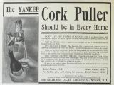 1903 Yankee Cork Puller Ad ~ Should be in Every Home