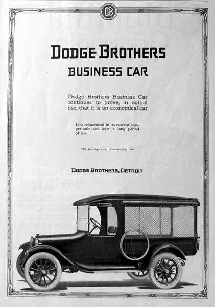 1919 Dodge Brothers Business Car Truck Ad