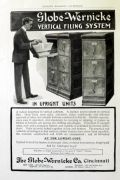 1903 Globe Wernicke Filing System Ad ~ Upright Units