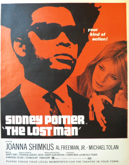 1969 Movie Ad ~ The Lost Man ~ Sidney Poitier