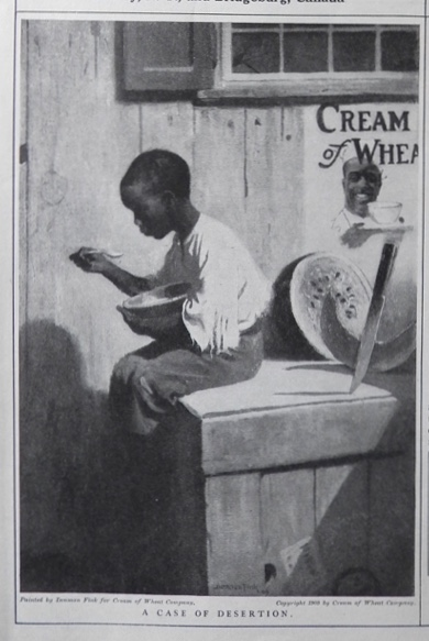 1909 Cream of Wheat Ad ~ Black Americana ~ A Case of Desertion