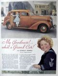 1936 Dodge Ad ~ Shirley Temple