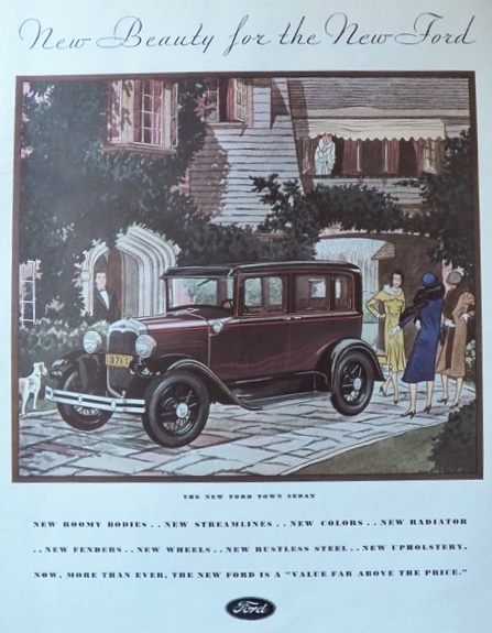 1930 Ford Town Sedan Ad ~ New Beauty