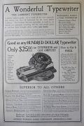 1909 Lambert Typewriter Ad ~ A Wonderful Typewriter