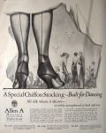 1925 Allen A Hosiery Ad ~ Chiffon Stockings