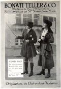 1917 Bonwit Teller Women's Fashion Ad ~ Sports Togs