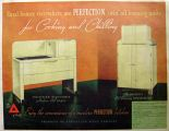 1937 Perfection Stove Oil Range & Refrigerator Ad