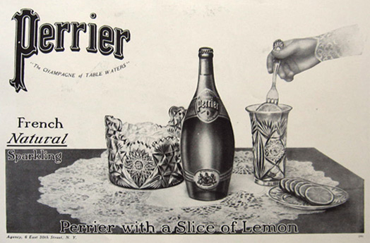 1910 Early Perrier Sparkling Water Ad