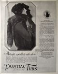 1925 Pontiac Strain Furs Ad ~ May Allison ~ Silver Fox