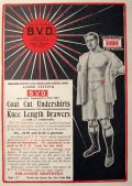 1907 BVD Men's Loose Fitting Underwear Ad