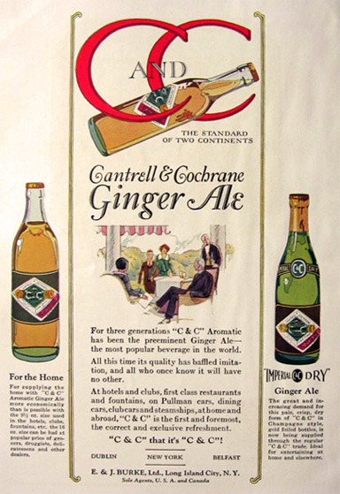 1924 Cantrell & Cochrane Ginger Ale Ad