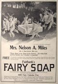 1899 Fairbank's Fairy Soap Ad ~ Fairies Fly on Bees