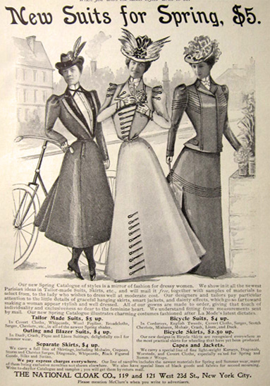 1898 National Cloak Co. Women's Fashion Ad