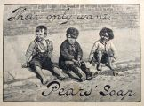 1895 Pears Soap Ad ~ Street Children