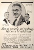 1923 Shur-on Eyeglasses & Spectacles Ad