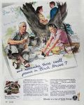 1944 WWII Brewing Industry Beer Ad ~ Picnics in Birch Grove
