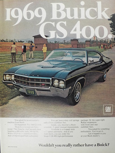 1969 Buick GS 400 Ad ~ An Enthusiast's Machine
