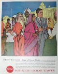 1957 Coca Cola Coke Ad ~ Maharaja's Palace, India