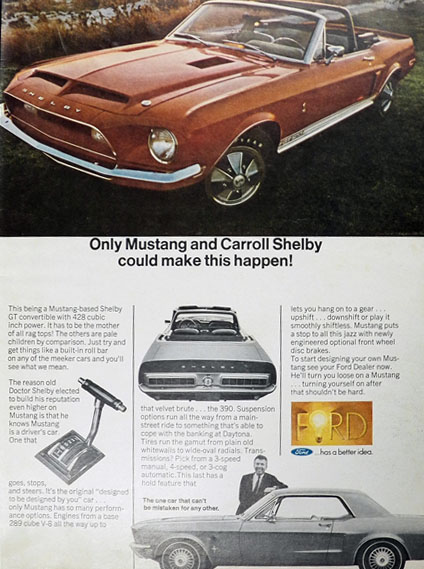 1968 Shelby Convertible Ad