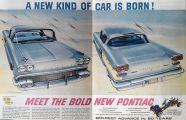 1957 Pontiac Ad ~ Star Chief Catalina & Bonneville