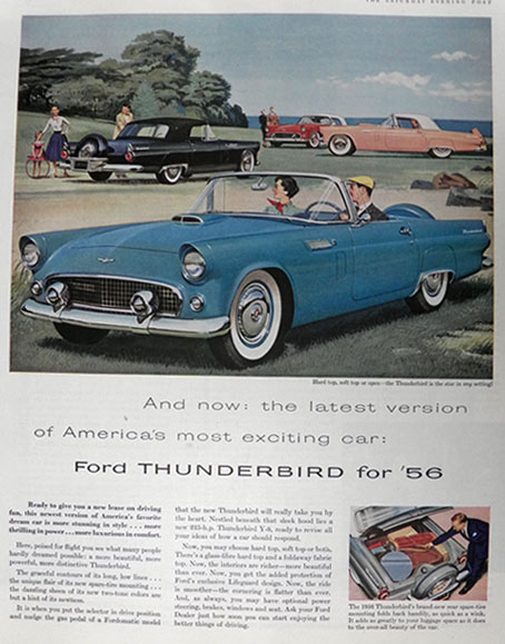 1956 Ford Thunderbird Ad ~ America's Most Exciting Car