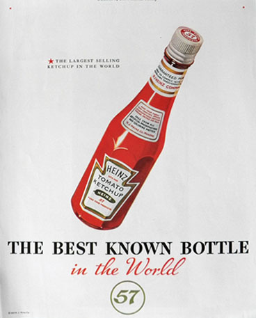 1935 Heinz Ketchup Ad ~ Best Known Bottle