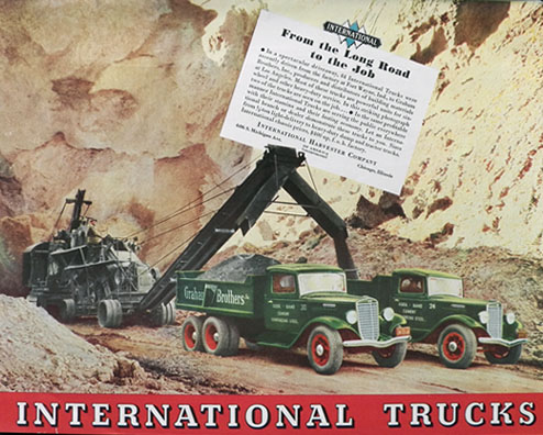 1935 International Harvester Truck Ad ~ Graham Bros ~ Fort Wayne IN