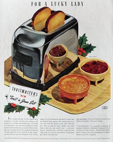 1938 Toastmaster Toaster Ad Toast n Jam Set Vintage Appliance Ads