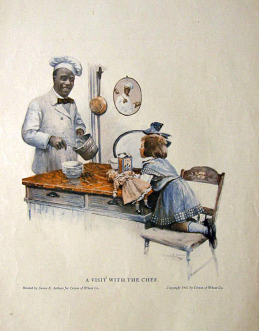 1912 Cream of Wheat Cereal Ad ~ A Visit with the Chef