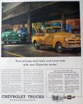 1954 Vintage Chevy Trucks Ad ~ Savings Start Early