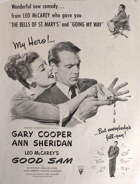 1948 Movie Ad ~ Good Sam ~ Gary Cooper