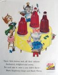 1956 Jello Ad ~ Three Little Kittens Nursery Rhyme