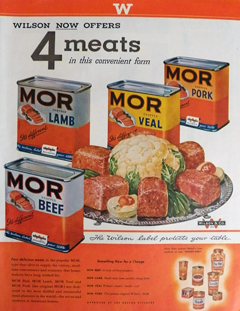 1948 Wilson Foods MOR Canned Meats Ad
