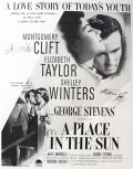 1951 Movie Ad ~ A Place in the Sun ~ Liz Taylor