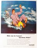 "1949 Textron ""Speedway Stripes"" Pajamas Ad ~ Fred Siebel"