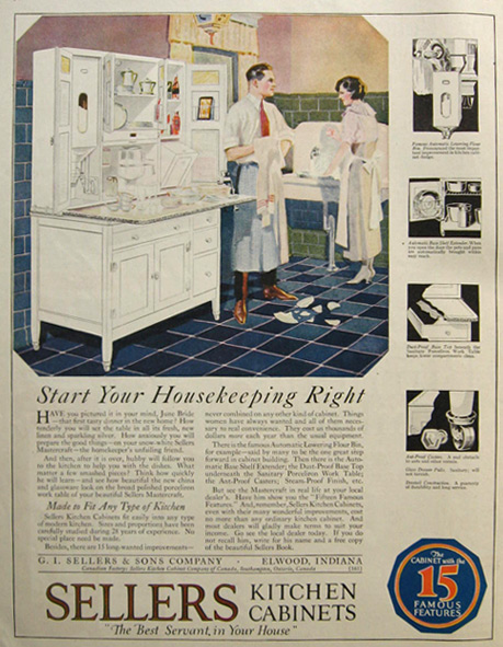 ... Shower 1921 Sellers Kitchen Cabinets Ad, Vintage Household Ads On  Bathroom Ads, Japanese Kitchen Ads ...