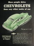1948 Vintage Chevrolet Chevy Ad ~ From Every Angle—Beautiful!