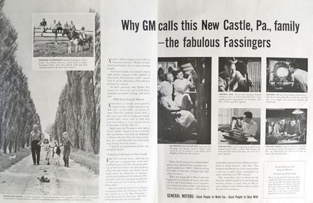1957 General Motors Ad ~ The Fassingers of New Castle, PA
