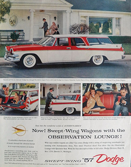 1957 Dodge Sierra Swept-Wing Wagon Ad