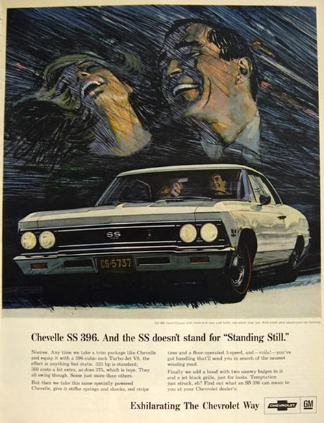 1966 Chevy Chevelle Ad ~ SS 396 Sport Coupe