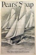 1901 Pears Soap Ad ~ Soap Sailboat