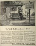 "1940 ""Little Red Schoolhouse"" of Golf ~ Golf Lessons Ad"